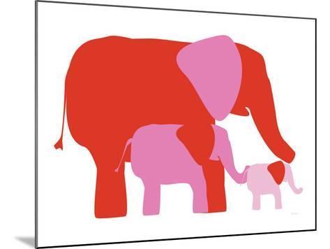 Pink Elephants-Avalisa-Mounted Art Print