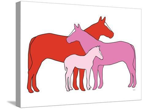 Pink Herd-Avalisa-Stretched Canvas Print