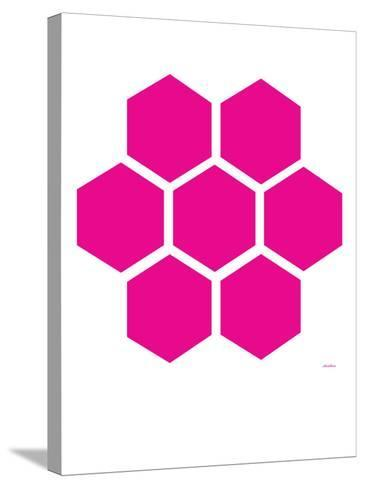 Pink Honeycomb-Avalisa-Stretched Canvas Print