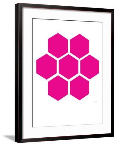 Pink Honeycomb-Avalisa-Framed Art Print