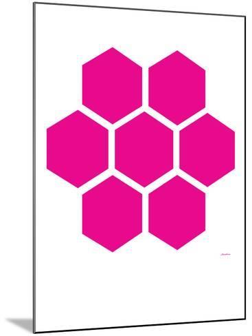 Pink Honeycomb-Avalisa-Mounted Art Print