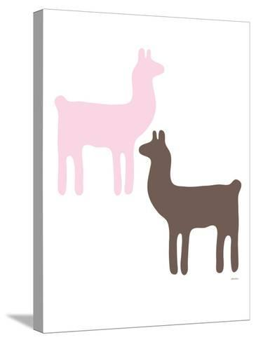 Pink Llama Couple-Avalisa-Stretched Canvas Print
