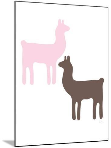 Pink Llama Couple-Avalisa-Mounted Art Print