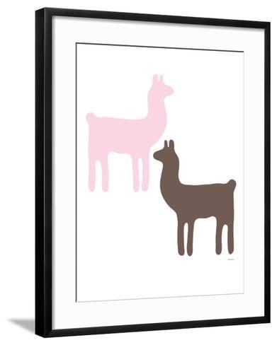 Pink Llama Couple-Avalisa-Framed Art Print
