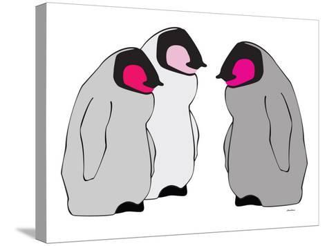 Pink Penguins-Avalisa-Stretched Canvas Print