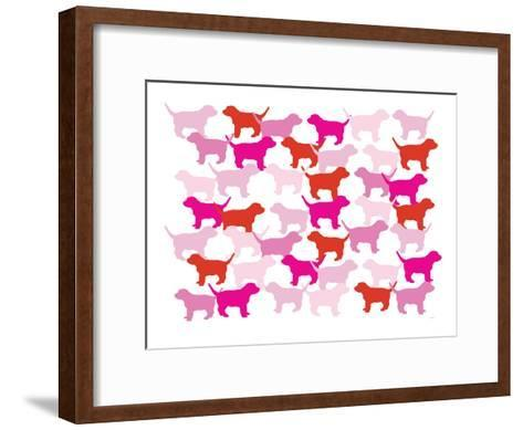 Pink Puppies-Avalisa-Framed Art Print
