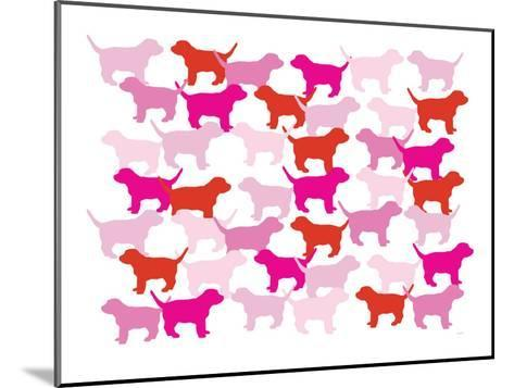 Pink Puppies-Avalisa-Mounted Art Print