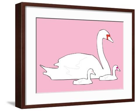 Pink Swan-Avalisa-Framed Art Print