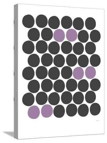 Purple Dots-Avalisa-Stretched Canvas Print
