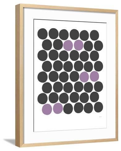 Purple Dots-Avalisa-Framed Art Print