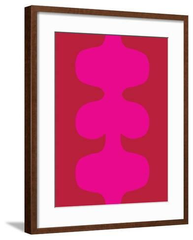 Red and Pink Design, no. 115-Avalisa-Framed Art Print