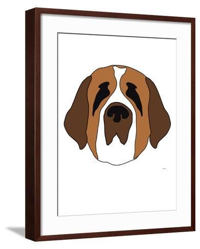 Saint Bernard-Avalisa-Framed Art Print