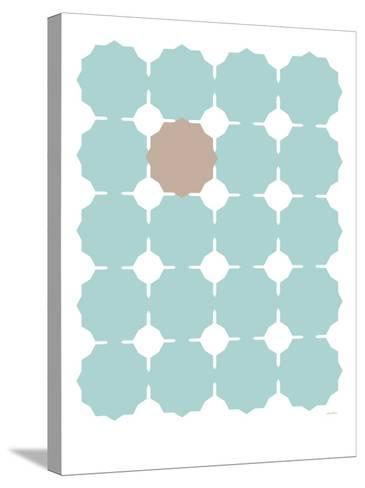 Seagreen Taupe Cutout-Avalisa-Stretched Canvas Print