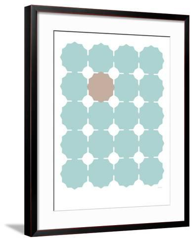 Seagreen Taupe Cutout-Avalisa-Framed Art Print