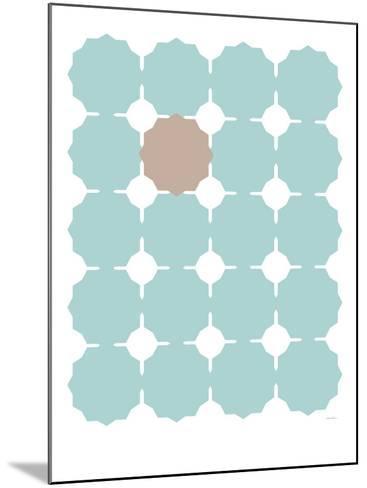 Seagreen Taupe Cutout-Avalisa-Mounted Art Print
