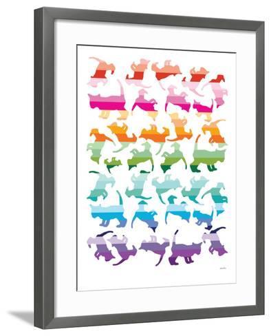 Sunset Kittens-Avalisa-Framed Art Print