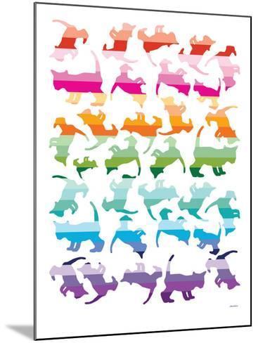 Sunset Kittens-Avalisa-Mounted Art Print