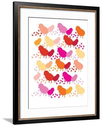 Warm Chick Pattern-Avalisa-Framed Art Print
