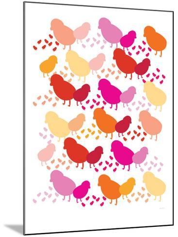 Warm Chick Pattern-Avalisa-Mounted Art Print