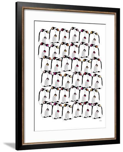 Warm Penguin Pattern-Avalisa-Framed Art Print