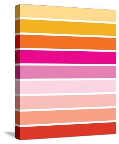 Warm Stripes-Avalisa-Stretched Canvas Print