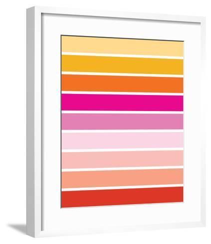 Warm Stripes-Avalisa-Framed Art Print