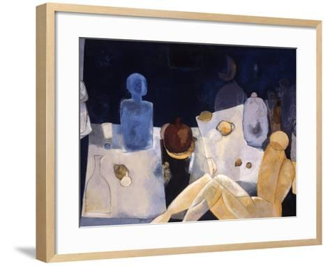 Blue Nude-Mary Calkins-Framed Art Print