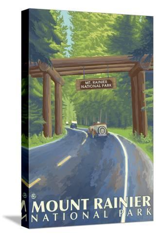 Mount Rainier, Nisqually Entrance-Lantern Press-Stretched Canvas Print