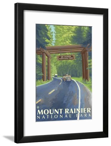 Mount Rainier, Nisqually Entrance-Lantern Press-Framed Art Print