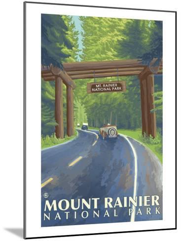 Mount Rainier, Nisqually Entrance-Lantern Press-Mounted Art Print