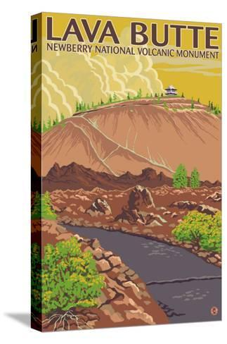 Newberry National Volcanic Monument, Lava Butte-Lantern Press-Stretched Canvas Print