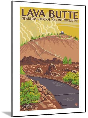 Newberry National Volcanic Monument, Lava Butte-Lantern Press-Mounted Art Print