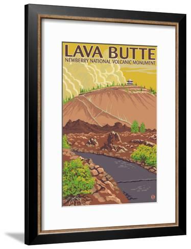 Newberry National Volcanic Monument, Lava Butte-Lantern Press-Framed Art Print