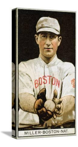 Boston, MA, Boston Braves, Edward McDonald, Baseball Card-Lantern Press-Stretched Canvas Print