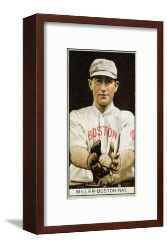 Boston, MA, Boston Braves, Edward McDonald, Baseball Card-Lantern Press-Framed Art Print