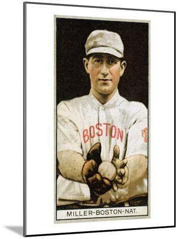 Boston, MA, Boston Braves, Edward McDonald, Baseball Card-Lantern Press-Mounted Art Print