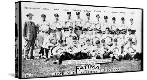 Cleveland, OH, Cleveland Naps, Team Photograph, Baseball Card-Lantern Press-Stretched Canvas Print