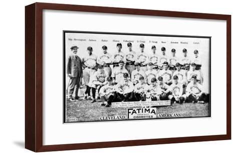 Cleveland, OH, Cleveland Naps, Team Photograph, Baseball Card-Lantern Press-Framed Art Print