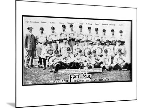 Cleveland, OH, Cleveland Naps, Team Photograph, Baseball Card-Lantern Press-Mounted Art Print