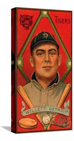 Detroit, MI, Detroit Tigers, Edgar Willett, Baseball Card-Lantern Press-Stretched Canvas Print