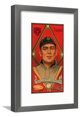 Detroit, MI, Detroit Tigers, Edgar Willett, Baseball Card-Lantern Press-Framed Art Print