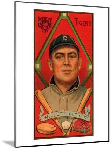 Detroit, MI, Detroit Tigers, Edgar Willett, Baseball Card-Lantern Press-Mounted Art Print