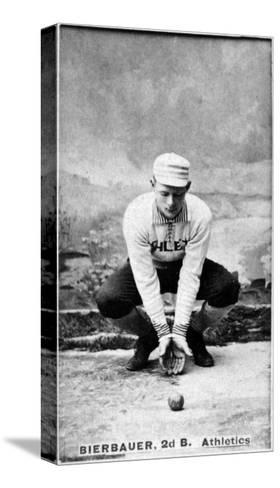 Philadelphia, PA, Philadelphia Athletics, Lou Bierbauer, Baseball Card-Lantern Press-Stretched Canvas Print