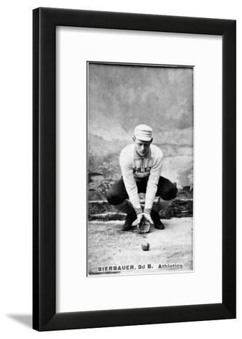 Philadelphia, PA, Philadelphia Athletics, Lou Bierbauer, Baseball Card-Lantern Press-Framed Art Print