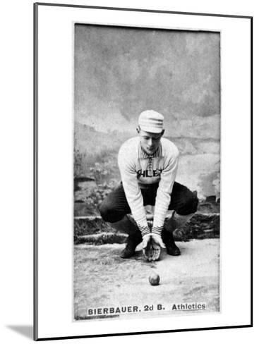Philadelphia, PA, Philadelphia Athletics, Lou Bierbauer, Baseball Card-Lantern Press-Mounted Art Print