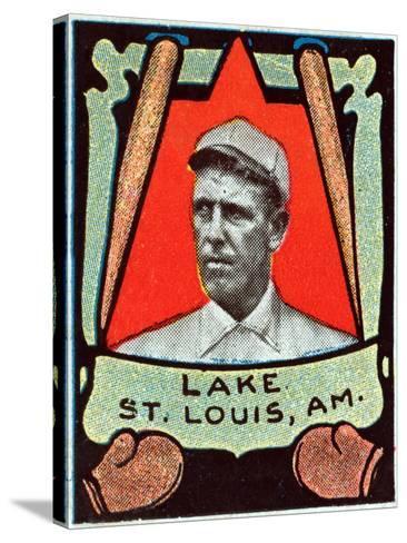 St. Louis, MO, St. Louis Browns, Joe Lake, Baseball Card-Lantern Press-Stretched Canvas Print