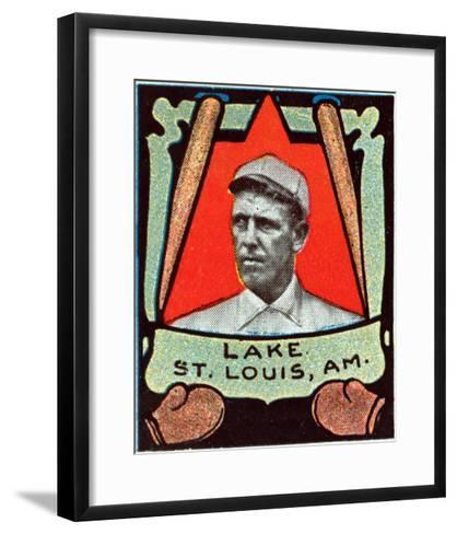 St. Louis, MO, St. Louis Browns, Joe Lake, Baseball Card-Lantern Press-Framed Art Print
