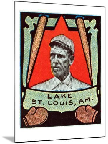 St. Louis, MO, St. Louis Browns, Joe Lake, Baseball Card-Lantern Press-Mounted Art Print