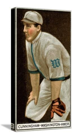 Washington D.C., Washington Nationals, William Cunningham, Baseball Card-Lantern Press-Stretched Canvas Print