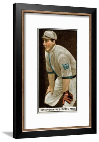 Washington D.C., Washington Nationals, William Cunningham, Baseball Card-Lantern Press-Framed Art Print